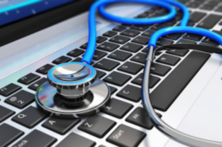 Healthcare company with ATL LIMS on laptop